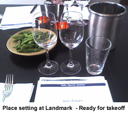 Place setting at Landmark - Ready for takeoff