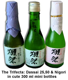 Trifecta of Dassai 23, 50, Nigori