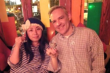 Sake Sommelier Chizuko and Tim Enjoy Naraman